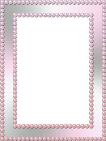 pink pearl: Rectangular pearl frame