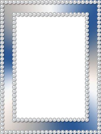 Rectangular pearl frame