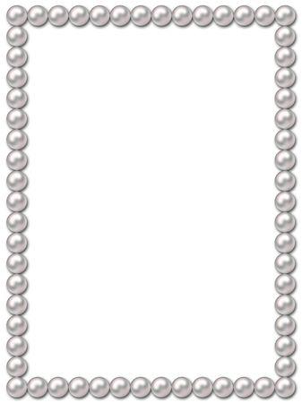 perlas: Marco collar de perlas