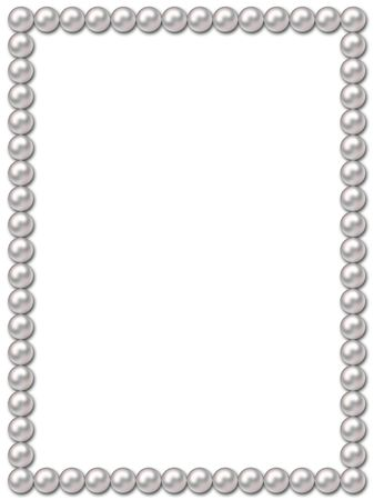 pearls background: Pearl frame-necklace