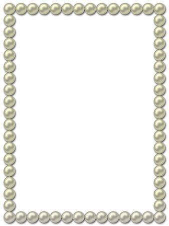 framework: Pearl frame-necklace