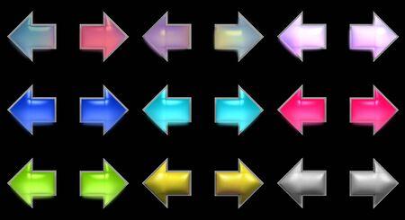 Luminous arrows over black photo