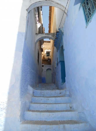 Chefchaouen, a blue alley in the Moroccan town of Chefchaouen  North Africa