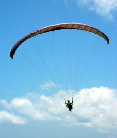 Parasailing 2, view of parasailing in summer sky, Thailand, Asia