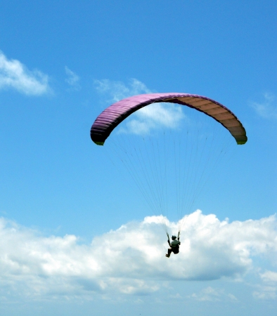 Parasailing 3, view of parasailing in summer sky, Thailand, Asia Editorial