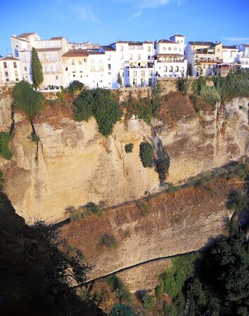 ronda: Ronda 4, a view of Ronda town on the top of the cliff  Spain