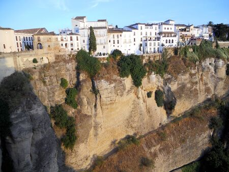 ronda: Ronda town 2, a view of Ronda town on the top of the cliff  Spain
