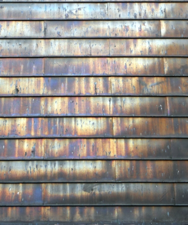 stell: steel shutters texture, fascinating texture and colors on unusual stell shutters  Stock Photo