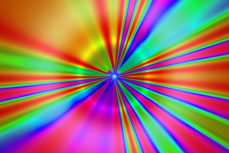 psychedelic tunnel 2, rainbow psychedelic colors receding