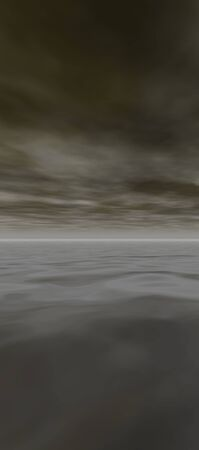 tall sky 7, digital seascape sunset, delicate gray clouds reflected in gentle ocean waves photo