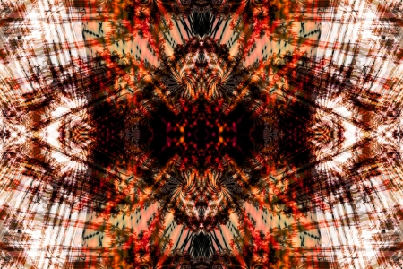 symetry: fractal symetry 1, symetrical fractal-based image in warm colors Stock Photo