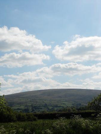 bodmin: Bodmin Moor 1, Distant view of Bodmin moor, across fields, Cornwall, UK Stock Photo