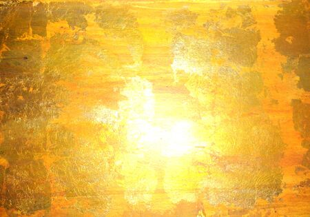 yellows: golden background, abstract painted surface