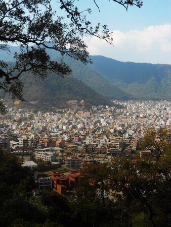 view of Kathmandu valley Stock Photo