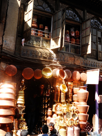 metal pot seller, Kathmandu, Nepal