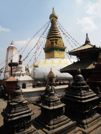 Nepalese temple architecture, temple in Kathmandu Stock Photo