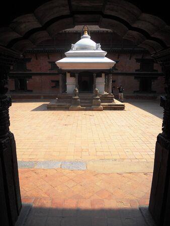 courtyard: shrine inside a courtyard, Kathmandu, Nepal