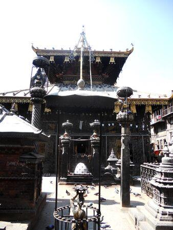 Nepalese temple detail, temple in Kathmandu