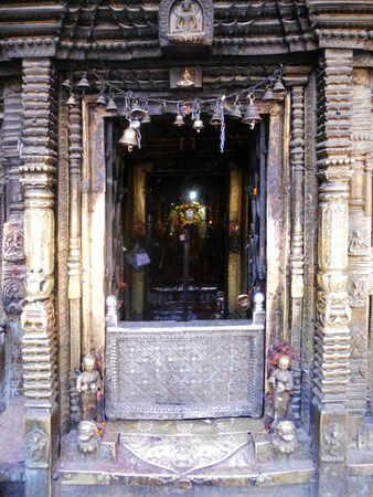 entranceway: Nepalese entranceway, old doorway in Kathmandu, Nepal
