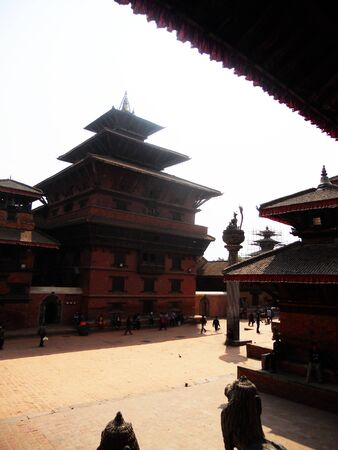Traditional Nepalese temple architecture, old temples in Kathmandu
