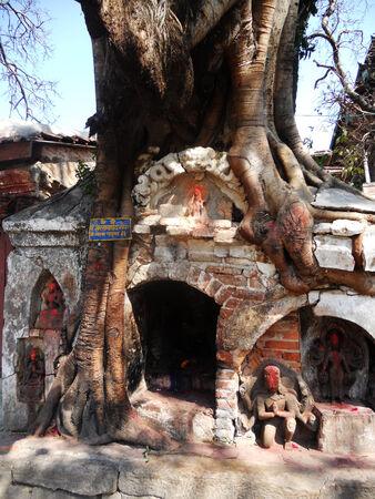 kathmandu: Nepalese shrines, small shrines in Kathmandu