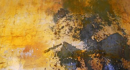 paint texture 7, abstract paint texture background in gold and black