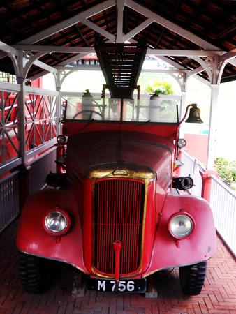 Old collonial fire-engine, Melaka, Malaysia