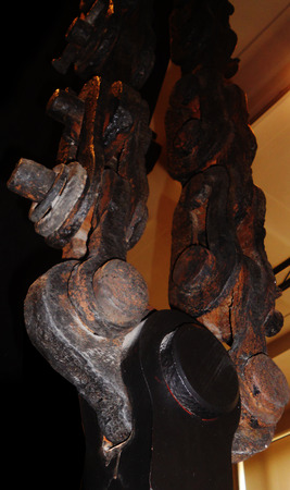 old heavy engineering detail showing large metal chain