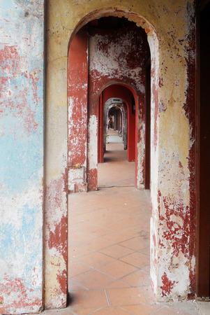 Covered walkway, Penang, Malasia