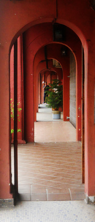 Covered walkway, Penang, Malaysia