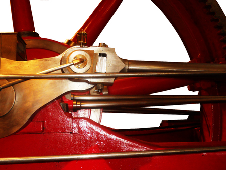 static: Static steam engine closeup Stock Photo
