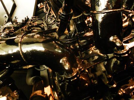 old engine closeup