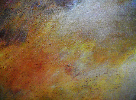 complex paint texture in warm colors, reds, yellows, oranges and browns