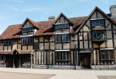 British Tudor houses with black wood beams