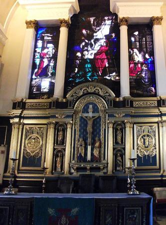 church interior: British church interior Editorial