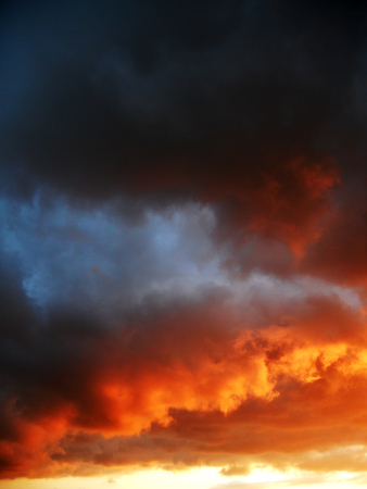 sunset clouds: Dramatic sunset clouds