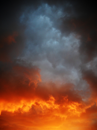 Sunset colors on dramatic clouds