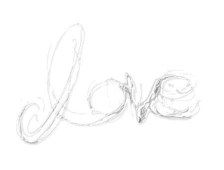 love painted, the word love hand-painted, artistic word love, partially washed-out brush lettering on black background.