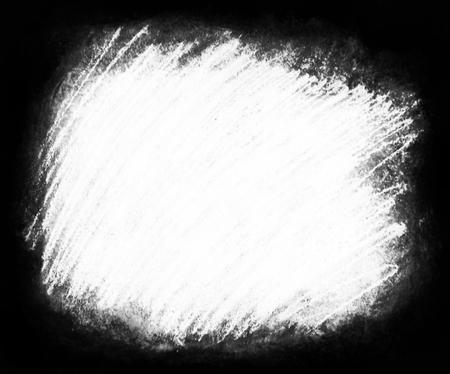 塗装の背景テクスチャ、荒い織り目加工の背景枠に周囲が暗く、白いコピー スペースに最適の大まかな白い走り書きのハッシュによって接される白