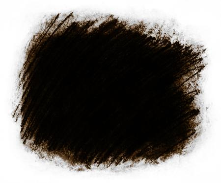 フレーム塗装の背景テクスチャ、荒い織り目加工の背景フレーム白サラウンド、暖かい茶色の濃淡と非常に暗い灰色のコピー スペースに最適の大ま