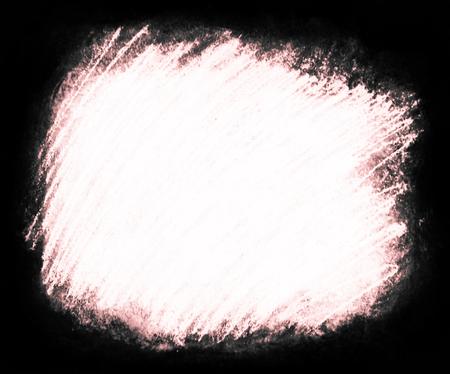 塗装の背景テクスチャ、赤の色合いと白いコピー スペースと周囲が暗く、荒い織り目加工の背景フレームに最適の大まかな白い走り書きのハッシュ 写真素材