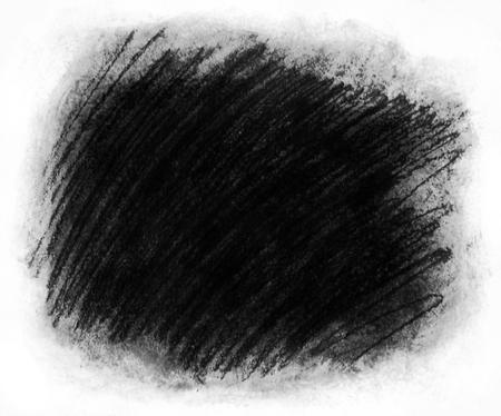 フレーム塗装の背景テクスチャ、荒い織り目加工の背景フレーム白サラウンドと暗い灰色のコピー スペースに最適の大まかな炭走り書きのハッシュ