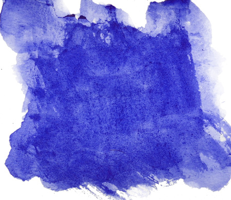 Watercolor texture with dry brush marks and wet painted areas on rough watercolor paper, blue-purple, on a white background.