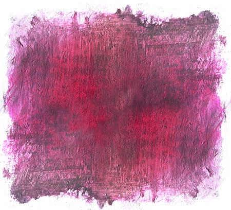 Painted area with rough brush marks, framed by white background, vivid magenta, reds and grays.