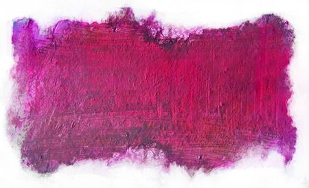 Wet painted area with rough brush marks, framed by white background, with vivid magenta and purple tints.