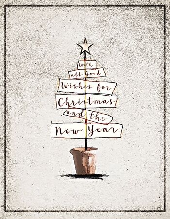 Christmas Card With The Words With All Good Wishes For Christmas ...