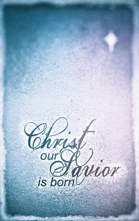 Grunge christmas card with the words christ our savior is born grunge christmas card with the words christ our savior is born in a contemporary font m4hsunfo
