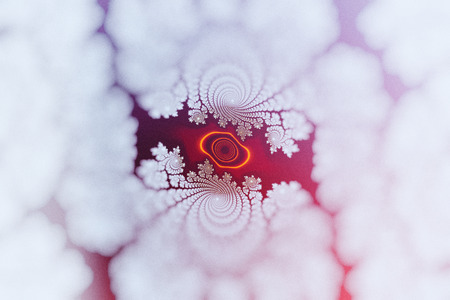 Beautiful fractal with vignette blur. Red and purple tints. Banco de Imagens - 121929334