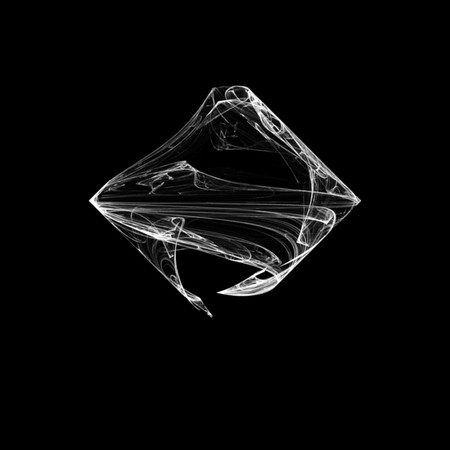 Beautiful and unusual flame fractal. White on black. Banco de Imagens - 123494249