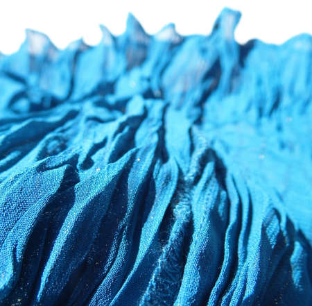 Rumpled blue fabric.